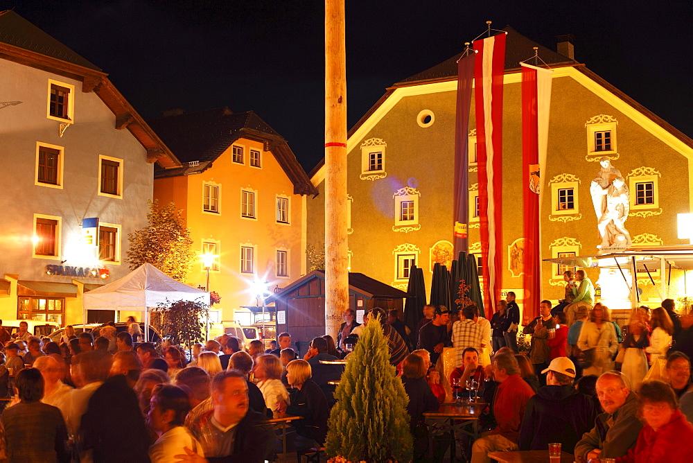 Festival on Marktplatz Square, Tamsweg, Lungau, Salzburg state, Salzburg, Austria, Europe