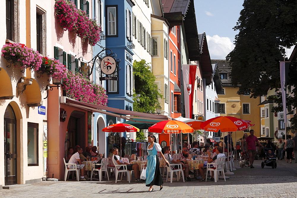 Vorderstadt in Kitzbuehel, Tyrol, Austria, Europe