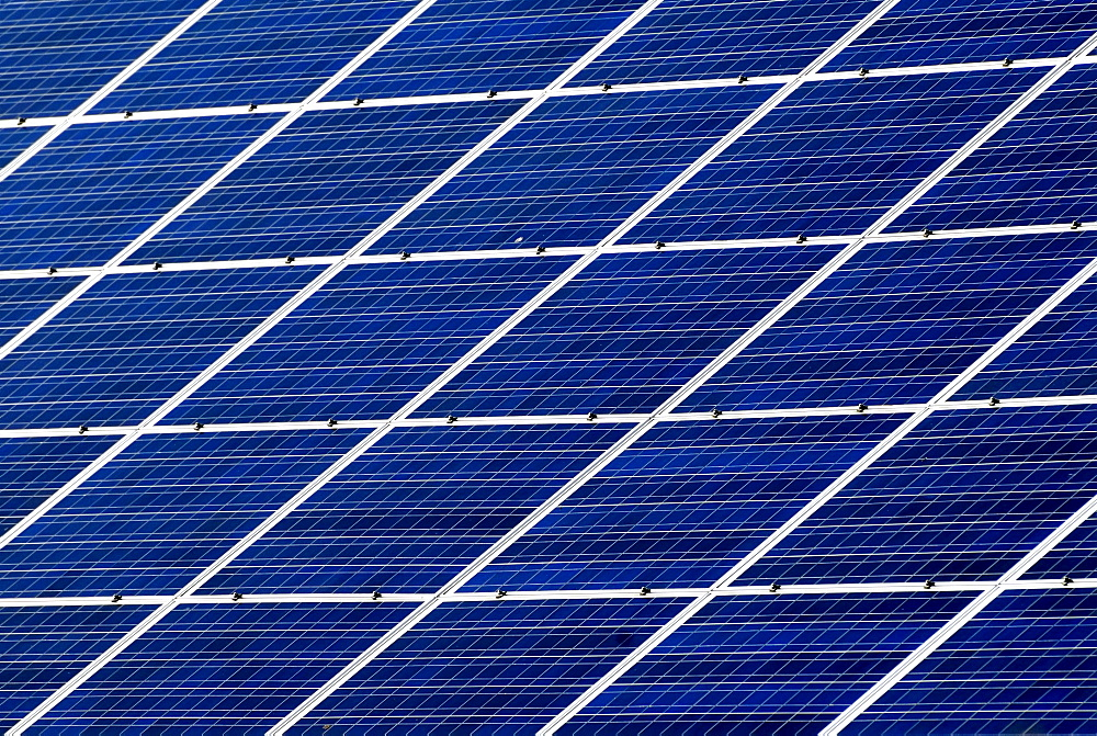 Detail of a photovoltaic system, solar panel, solar cells