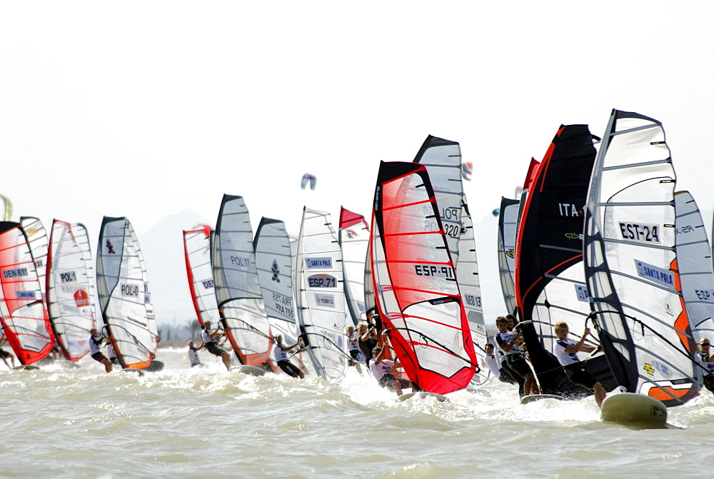 Formula Windsurfing World Championship in Santa Pola, Spain, Europe