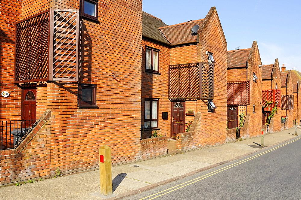 Typical English row houses in Canterbury, Kent, England, UK, Europe