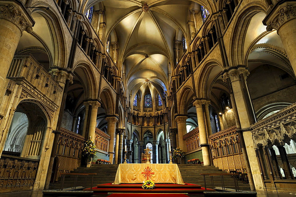 Interior of Canterbury Cathedral, Kent, England, UK, Europe