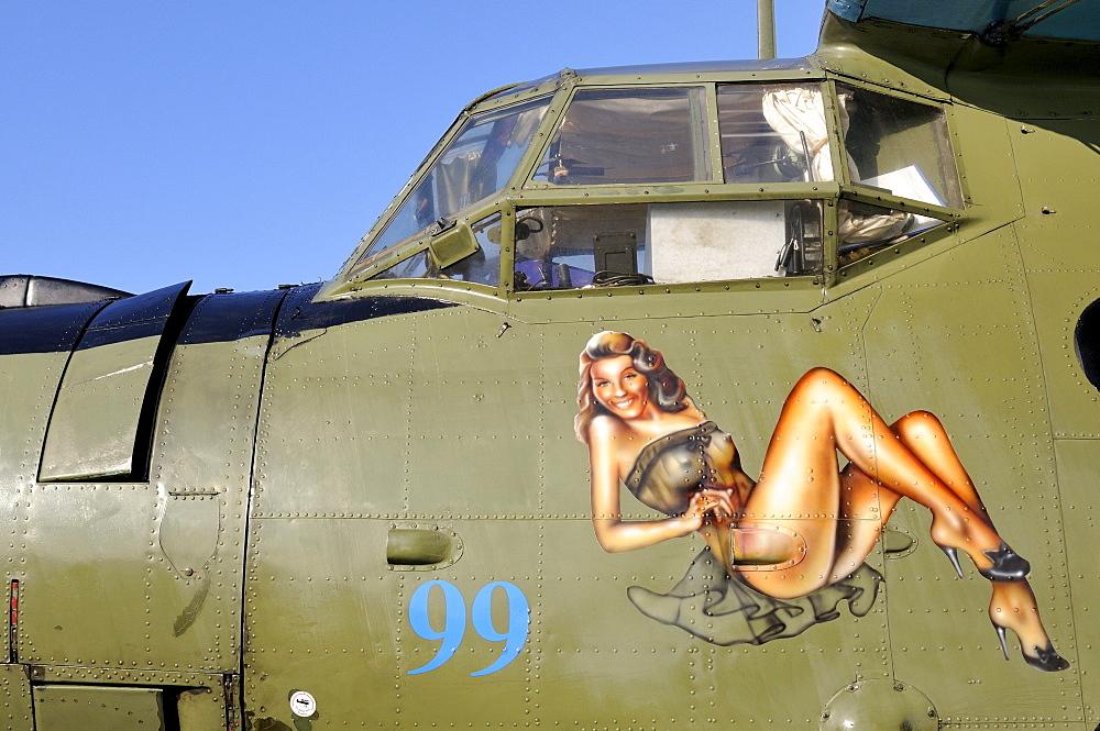 Nose art of a Russian multi-purpose aircraft Antonov AN-2, Germany, Europe