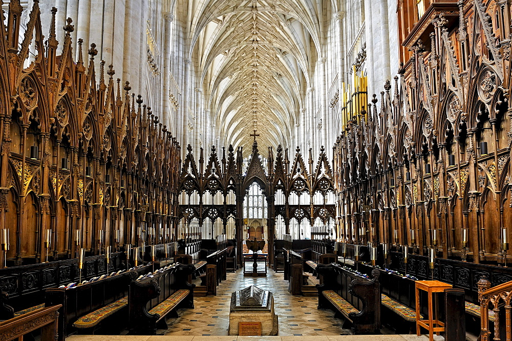 Choir or presbytery in Winchester Cathedral, Hampshire, England, United Kingdom, Europe