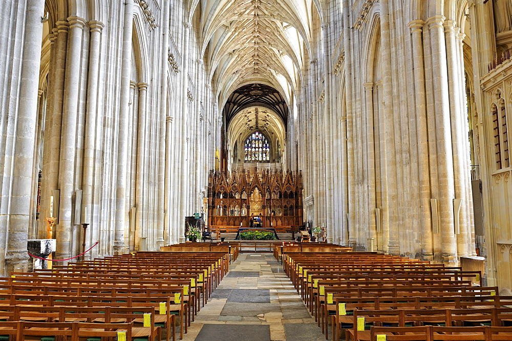 Interior of Winchester Cathedral, Hampshire, England, United Kingdom, Europe