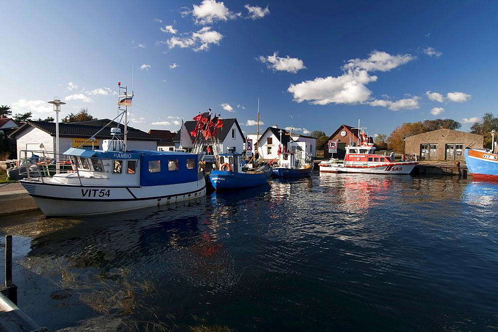 Port of Vitte, on Hiddensee island, Mecklenburg-Western Pomerania, Germany, Europe