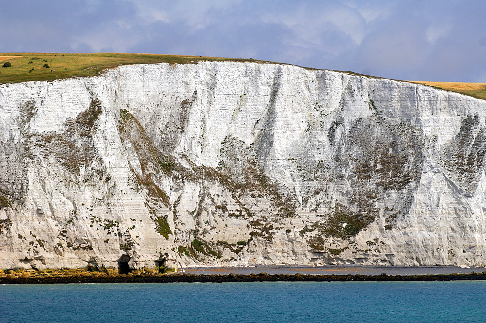 White Cliffs of Dover, detail, seen from the car ferry, Dover, England, Europe