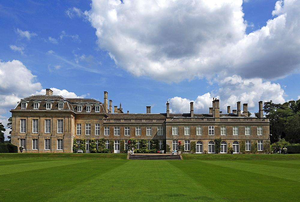 """Boughton House"", seen from the garden, Geddington, Kettering, Northamptonshire, England, United Kingdom, Europe"