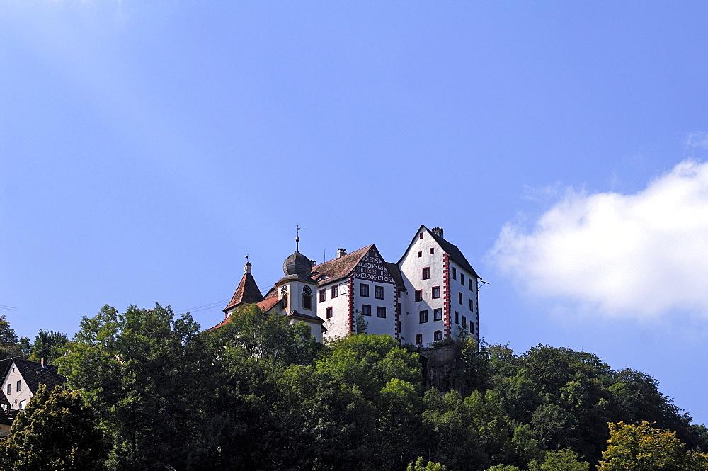 Burg Egloffstein castle, first mentioned in 1358, Egloffstein, Upper Franconia, Bavaria, Germany, Europe