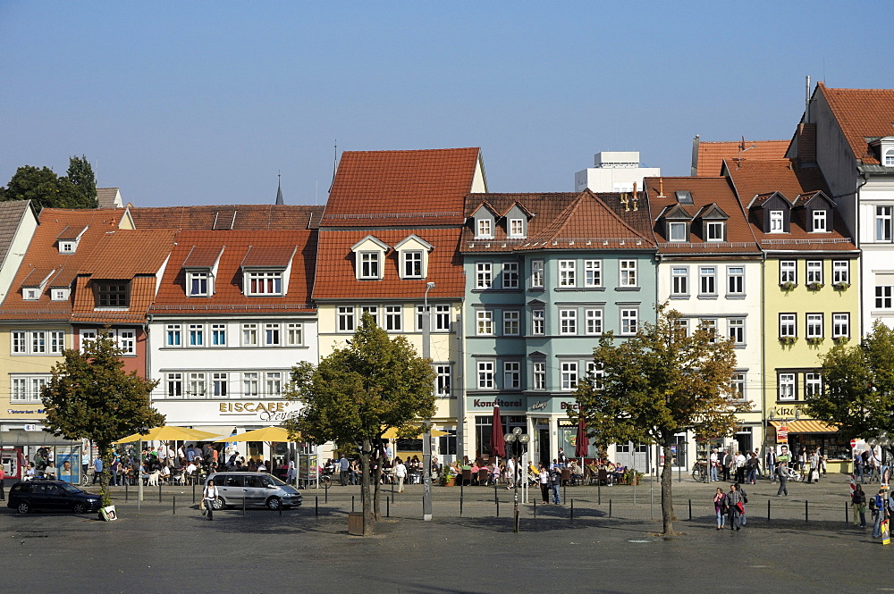 Domplatz square, Erfurt, Thuringia, Germany, Europe