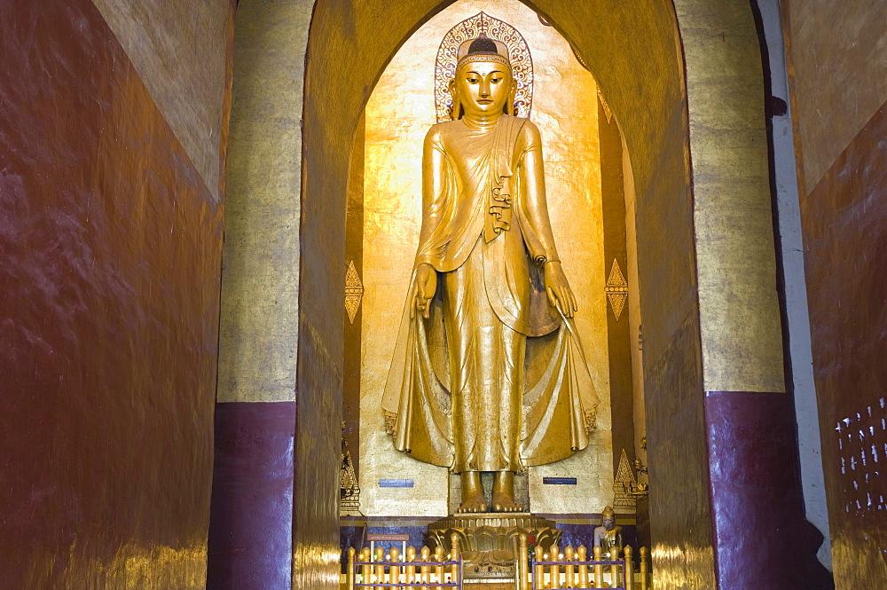 Buddha in the Ananda Temple, Old Bagan, Pagan, Burma, Myanmar, Asia