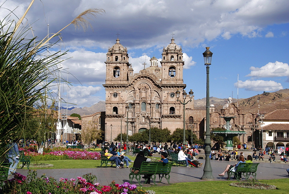 La Compania de Jesus, Jesuit Church, Plaza de Armas, historic town centre, Cusco, Peru, South America, Latin America