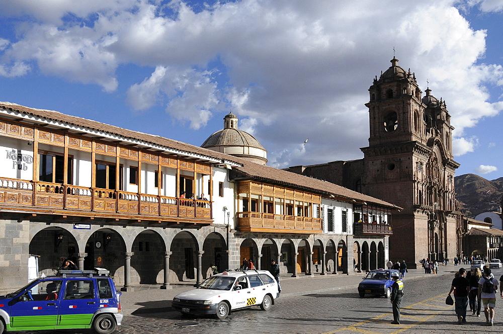 La Compania de Jesus, Jesuit Church, Plaza de Armas Cusco, Cusco, Inca settlement, Quechua settlement, Peru, South America, Latin America