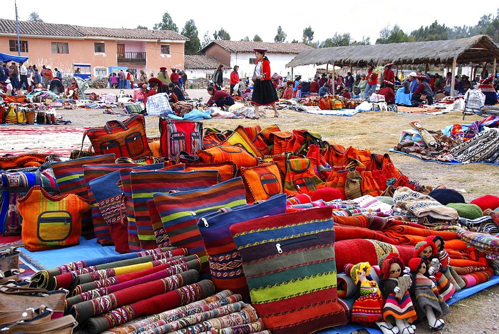 Market, Chinchero, Inca settlement, Quechua settlement, Peru, South America, Latin America
