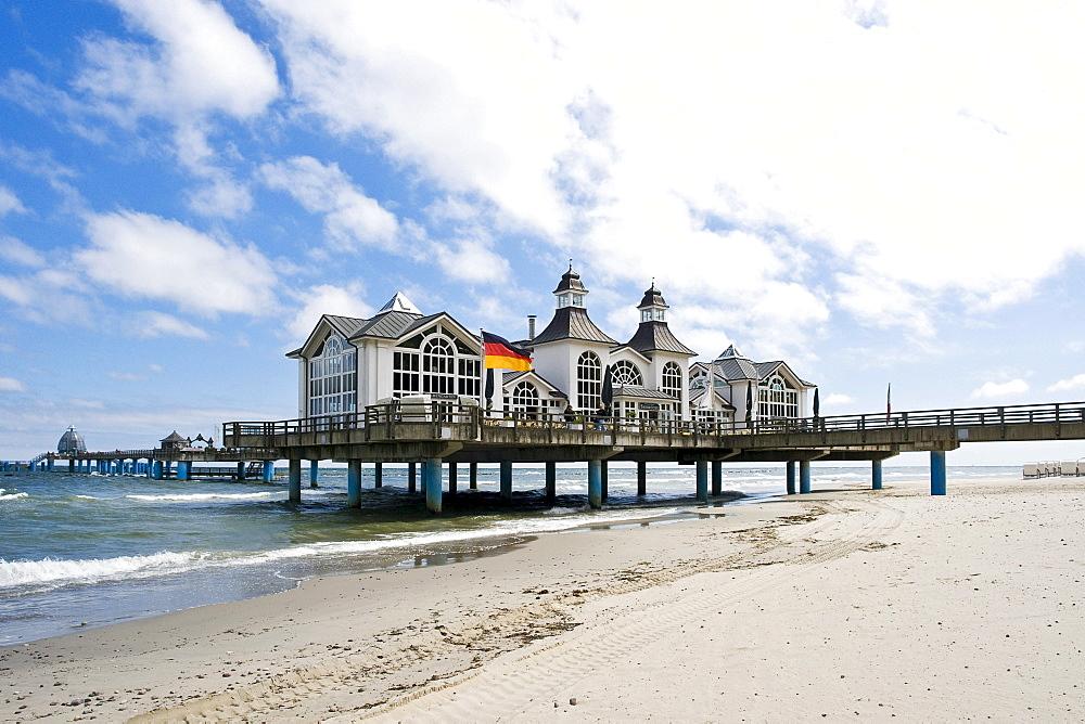 Pier in Sellin, Mecklenburg-Western Pomerania, Germany, Europe