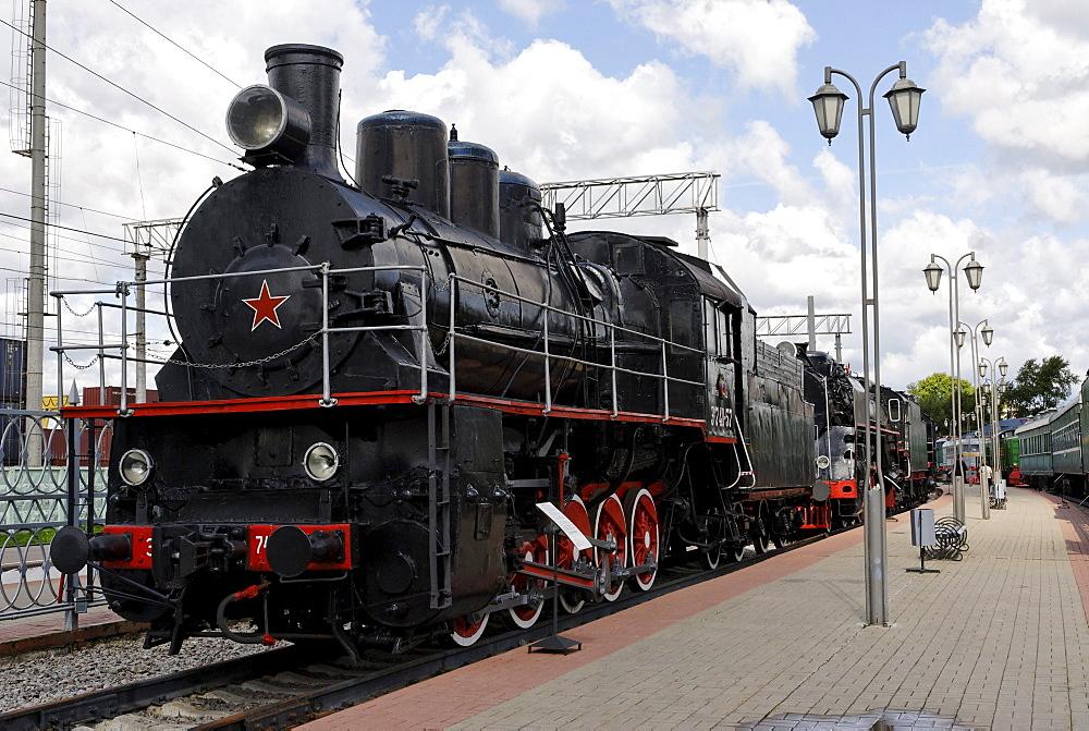 Soviet steam locomotive EM 740-57, built in 1935
