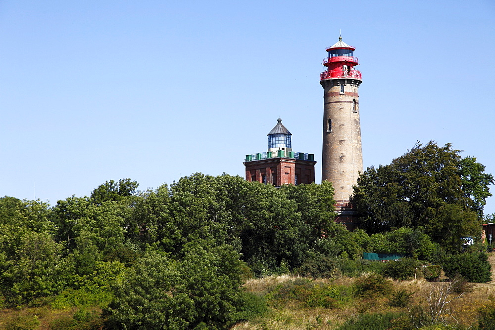 Lighthouses, Cape Ancona, Ruegen, Mecklenburg-Western Pomerania, Germany, Europe