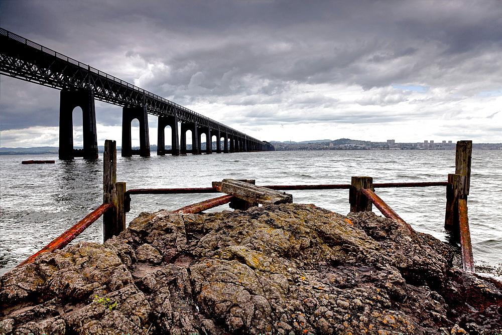 Tay Bridge in Dundee, Scotland, United Kingdom, Europe
