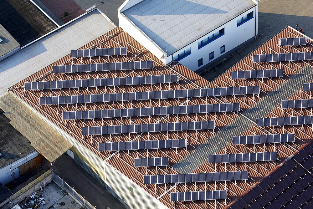 Solar roof, Koblenz, Rhineland-Palatinate, Germany, Europe