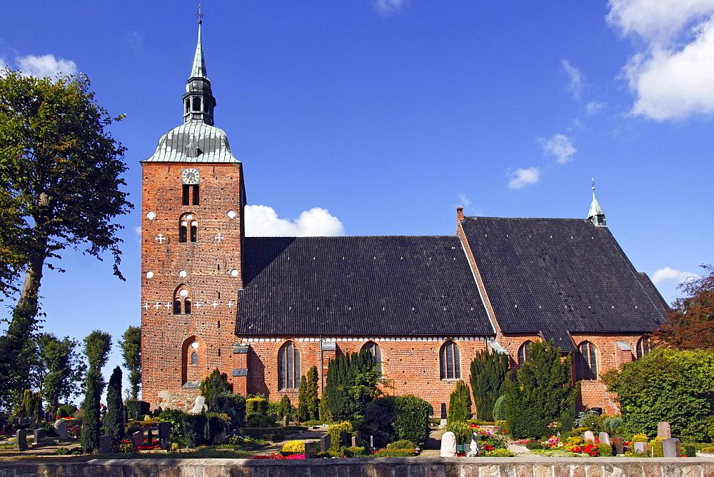 St. Nicolai Church, a triple nave hall church, Burg, Fehmarn Island, Ostholstein district, Schleswig-Holstein, Germany