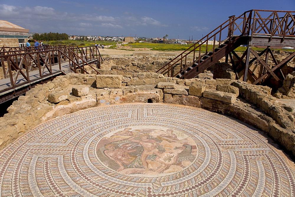 Kourion archaeological site, mosaic, Limassol, Cyprus, Greece, Europe