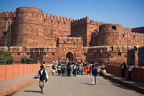 Red Fort, Agra, North India, India, Asia