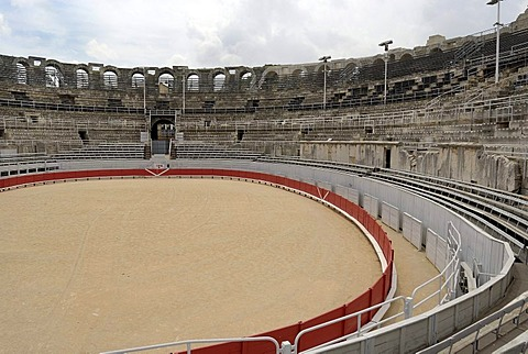 Ancient amphitheatre, one of the best-preserved examples of Roman architecture in the Provence, Arles, France, Europe