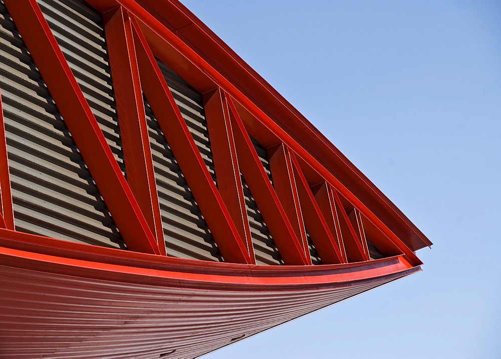 Metallic construction, red