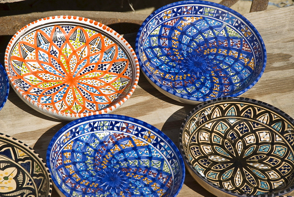 Colourful plates, Carthage, Tunis, Tunisia, North Africa
