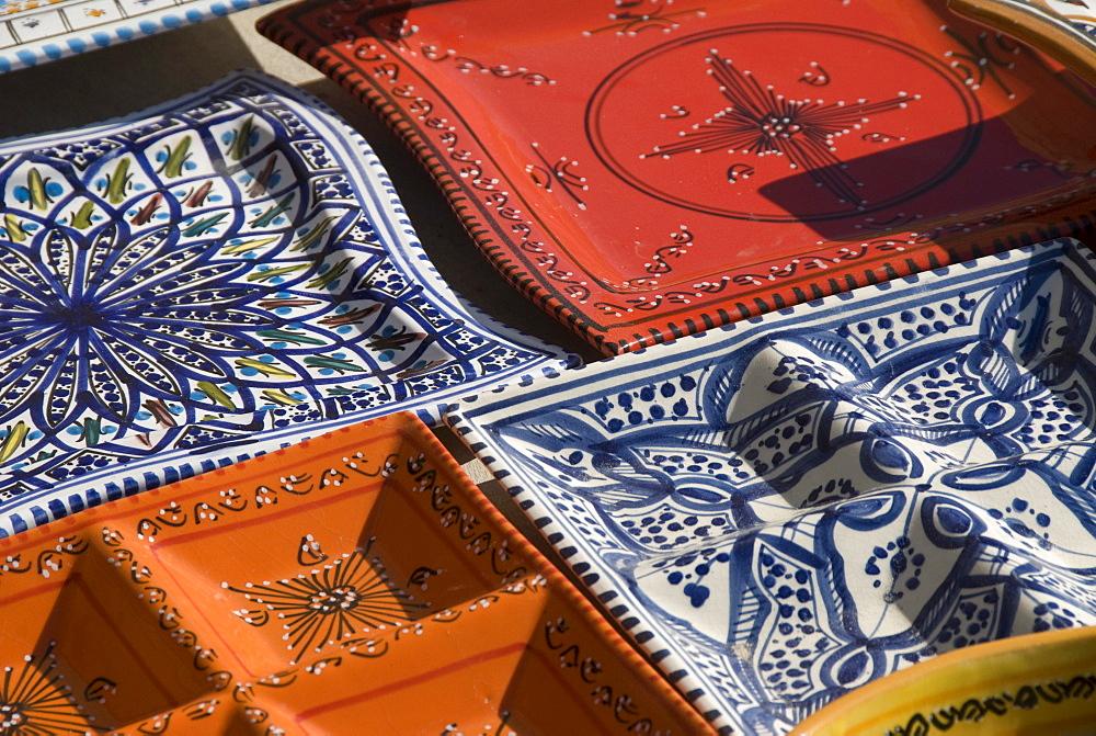 Colorful plates, Carthage, Tunis, Tunisia, North Africa