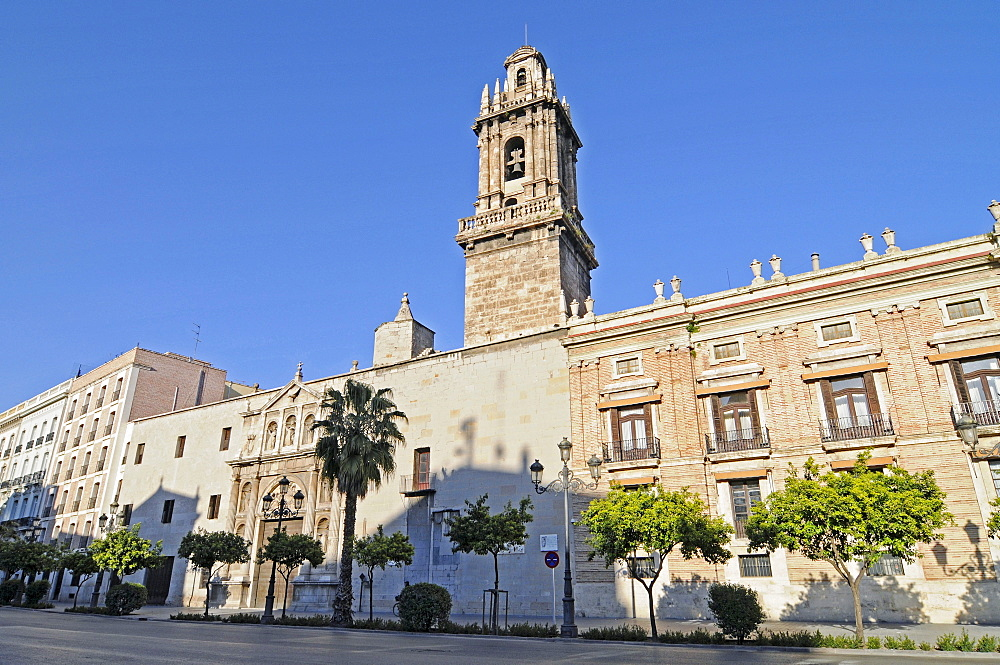 Convento de Santo Domingo, monastery, church, Capitania General, port authority, Plaza de Tetuan, square, Valencia, Spain, Europe