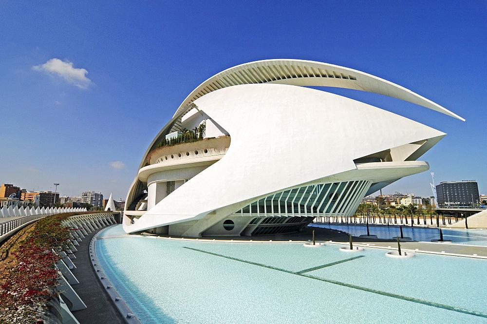 Palau de les Arts Reina Sofia, opera house, music theater, Ciudad de las Artes y Ciencias, city of arts and sciences, Valencia, Spain, Europe