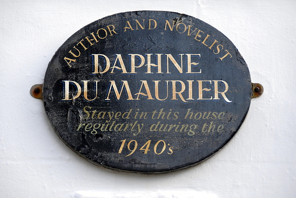 Daphne du Maurier, author, writer, house, sign, St Ives, Cornwall, England, Great Britain, Europe