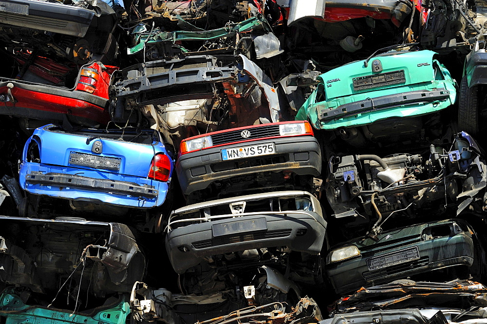 Old cars on a junkyard