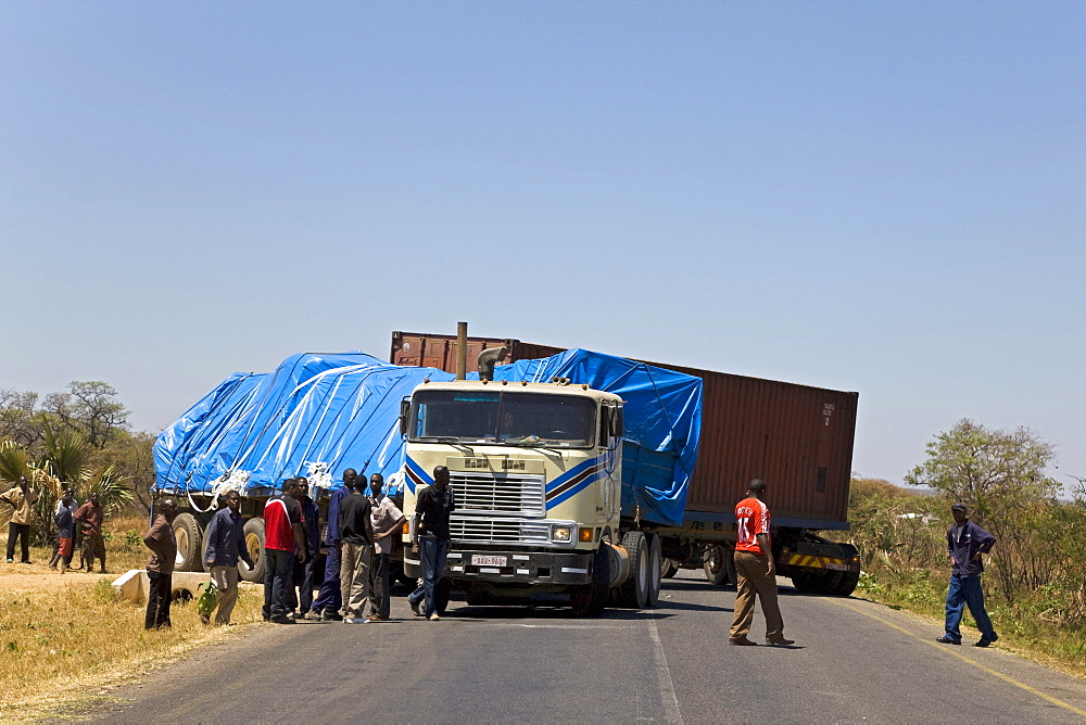 Truck accident in Zambia, Africa