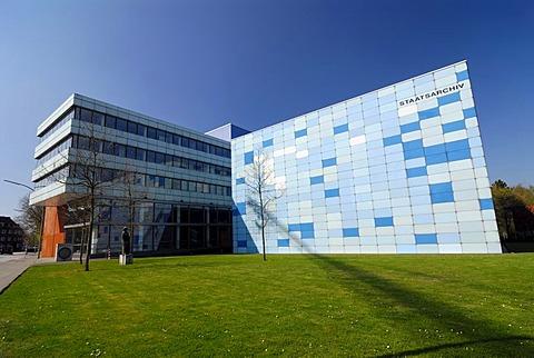 Hamburg Staatsarchiv, public record office, Wandsbek, Hamburg, Germany, Europe