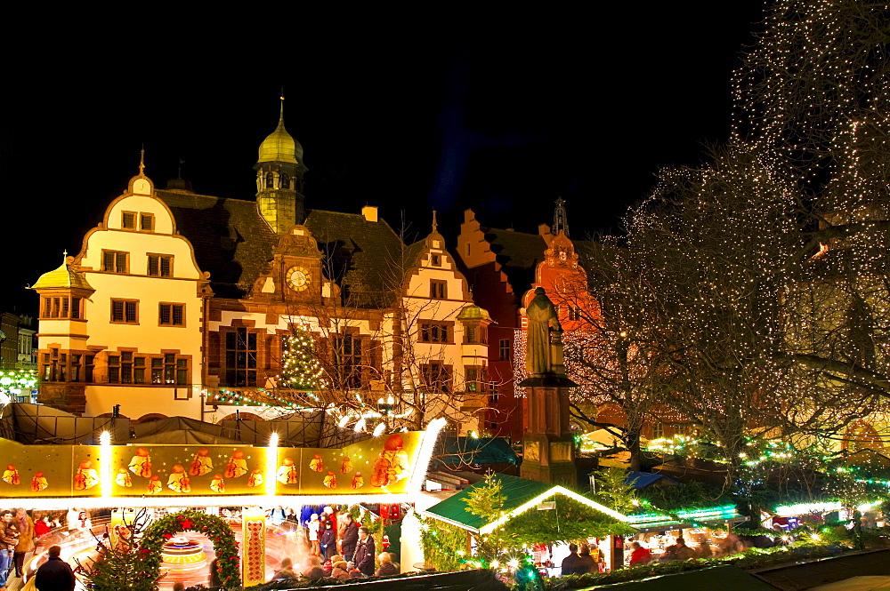 Christmas market, Freiburg, Baden-Wuerttemberg, Germany, Europe