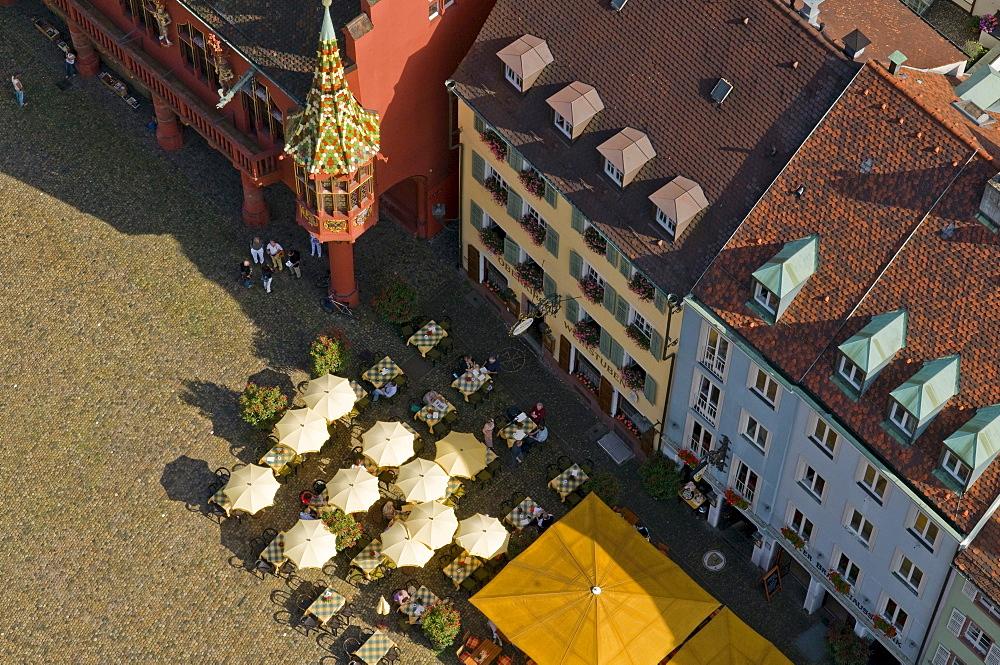 Freiburg Minster square, Freiburg im Breisgau, Baden-Wuerttemberg, Germany, Europe