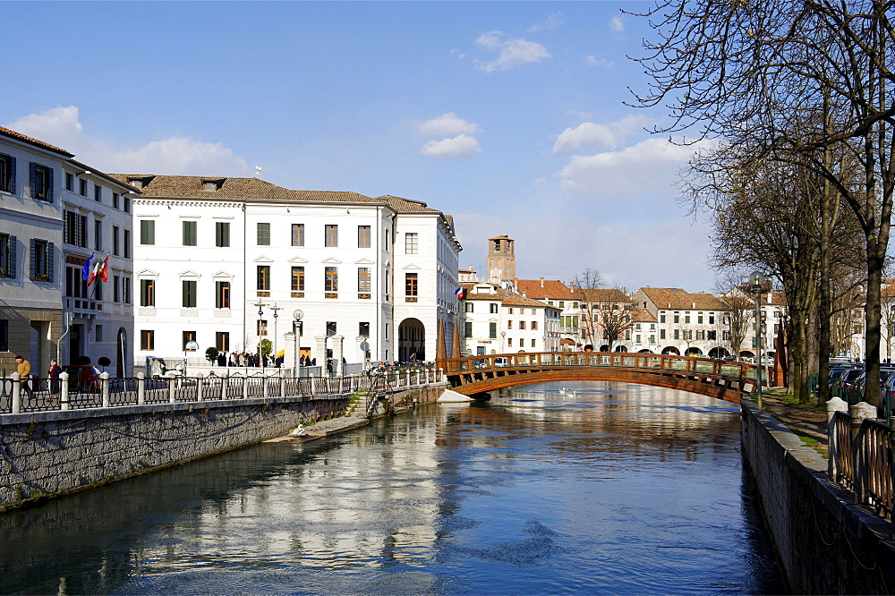 University at the river Sile, Treviso, Veneto, Italy, Europe