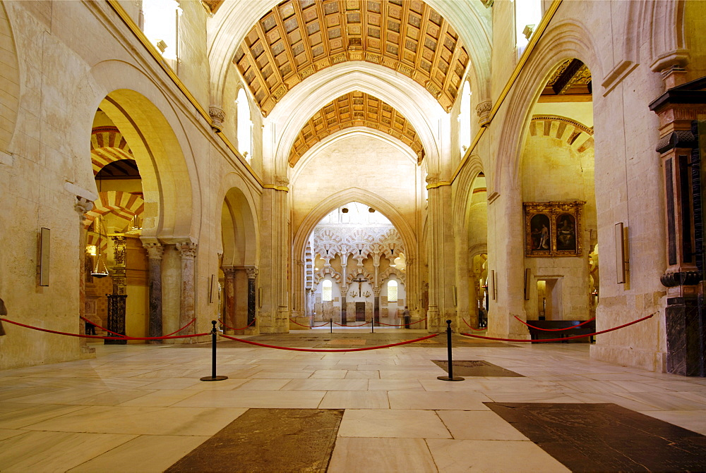 Interior, the embeded cathedral, Mezquita, former mosque, now cathedral, Cordoba, Andalusia, Spain, Europe