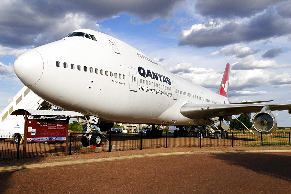 Boeing 747 at Qantas Founders Museum, Longreach, Queensland Outback, Australia