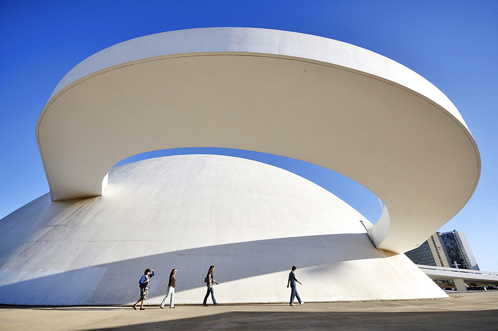 Museu Nacional Honestino Guimaraes National Museum, by architect Oscar Niemeyer, Brasilia, Distrito Federal state, Brazil, South America