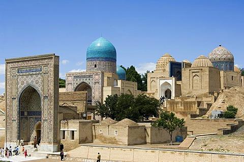 Kasisade Rumi Mausoleum, Shahr-I-Zindah or Shahi Sinda necropolis, Samarkand, UNESCO World Heritage Site, Uzbekistan