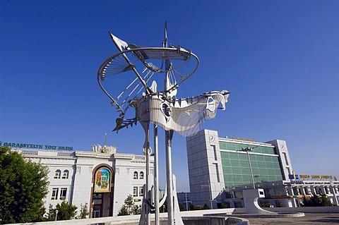 Modern art, Ashgabat, Turkmenistan