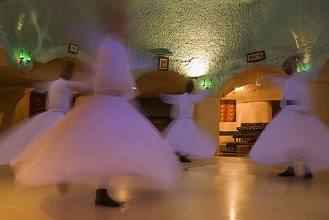 Whirling dervishes, Cappadocia, Turkey