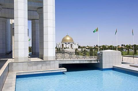 Ashgabat, Mausoleum of President Turkmenbasy, Turkmenistan