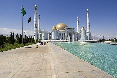 Ashgabat, Spiritual Mosque of Turkmenbasy, Turkmenistan