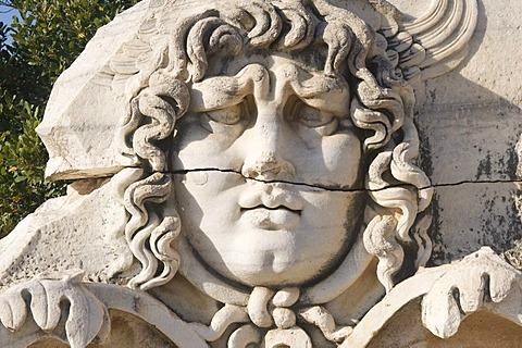 Apollo temple, Medusa head, Didyma, Turkey