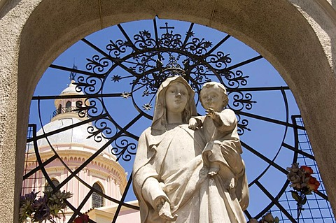 Statue of The Virgin Mary, neoclassical cathedral, Salta, Argentina - 832-220689