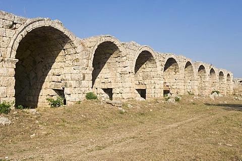 Vaulted superstructure of the Perga Stadium, Antalya, Turkey